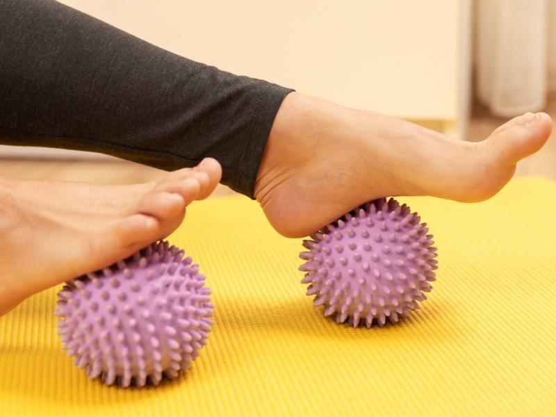 Reflexology, massage, spiky ball, health